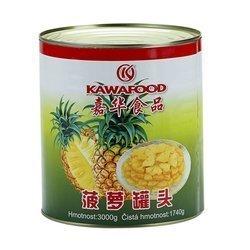 Ananas w syropie kostka KAWAFOOD 3kg   Dua Vien KAWAFOOD 3kgx6szt